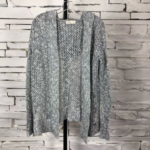 Hollister Knit Open Cardigan Gray XSmall 1044